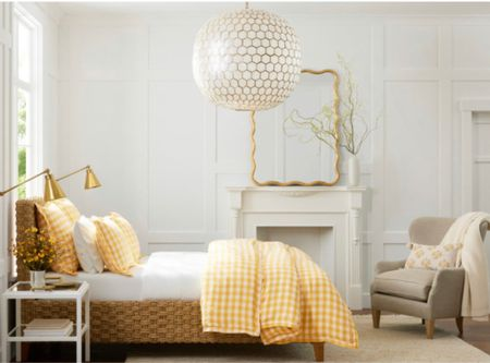 Shop this new fall bedroom look with sunny timeless gingham bedding.   #LTKhome #LTKSeasonal