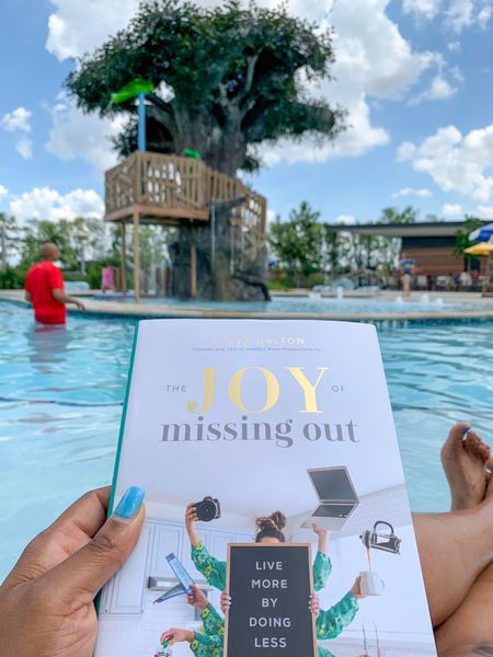 Pool 🏊♂️ Day with my crew. Perfect afternoon to start a new book. 📚 The Joy of Missing Out. #Books #Summer #SummerVibes #TheJoyofMissingOut #PoolDay   #LTKfamily #LTKswim