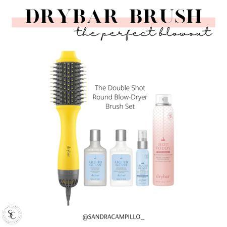 Get the perfect blowout with the Drybar double shot blow dryer brush set. On sale!  #Nordstromsale #blowdryer #Drybar #brushset #vegan #crueltyfree   #LTKbeauty #LTKsalealert #LTKitbag