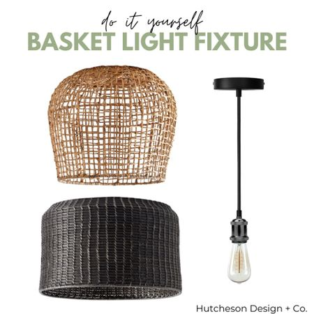 Looking for an easy & inexpensive diy project that will turn an ordinary basket into a really cool light fixture?! Look no more! ✨ • All you'll need is your favorite open weave basket, a pendant light socket & the tutorial linked in my bio! • So impressed with the transformation this diy basket light fixture made in our dinning room! •  http://liketk.it/30bKu #liketkit @liketoknow.it #LTKhome #LTKunder50 #LTKunder100 @liketoknow.it.home Follow me on the LIKEtoKNOW.it shopping app to get the product details for this look and others
