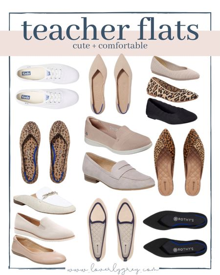 Rounding up the best cute and comfy teacher flats you can wear to work!   #LTKstyletip #LTKshoecrush #LTKunder100