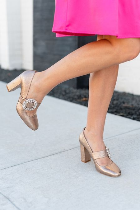 The perfect gold heel! Also in glitter!  #LTKstyletip #LTKshoecrush #LTKHoliday