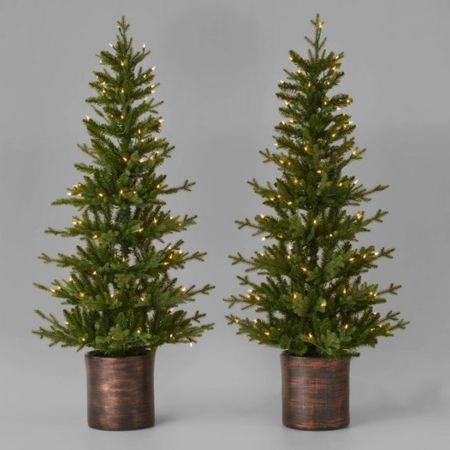 Pre-lit Christmas tree + 18' garland ✨  #LTKsalealert #LTKSeasonal #LTKHoliday