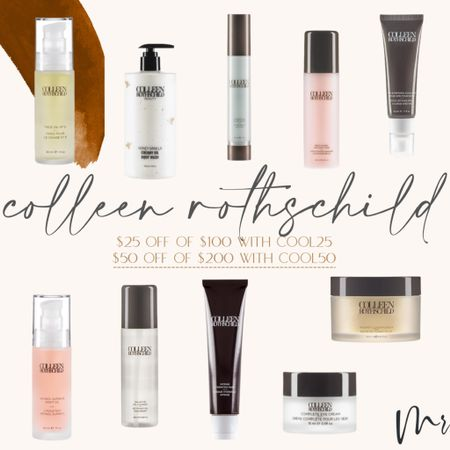 Colleen Rothschild $25 off $100 with cool25 or $50 off $200 with cool50 #colleenrothschild #beautydeals #skinscare  #LTKbeauty #LTKsalealert #LTKunder100