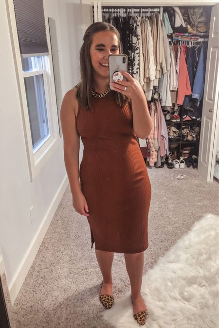 Tuesday workwear outfit. $30 dress is so cute and such good quality. Fits TTS, I'm in a M.   #LTKstyletip #LTKSeasonal #LTKsalealert