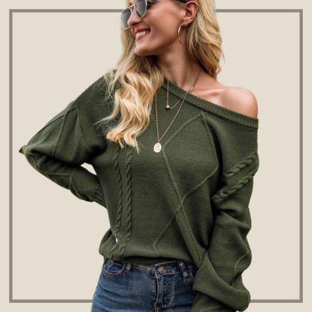 Lantern sleeve cable knit sweater   #LTKstyletip #LTKunder50 #LTKunder100
