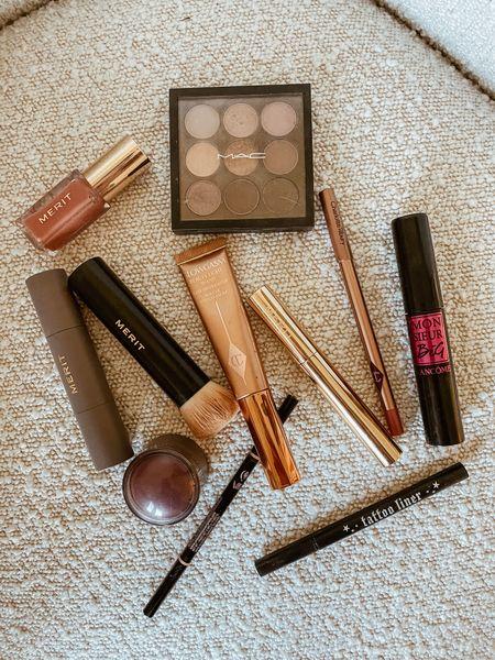 my current makeup line up.  colors: Merit foundation & concealer stick: bisque  Anastasia Brow wiz: medium brown  Merit eyebrow pomade gel: brown  Lip liner: pillow talk  Tinted lip oil: Ai naturel Cream blush: raspberry beret http://liketk.it/3jd5q #liketkit @liketoknow.it