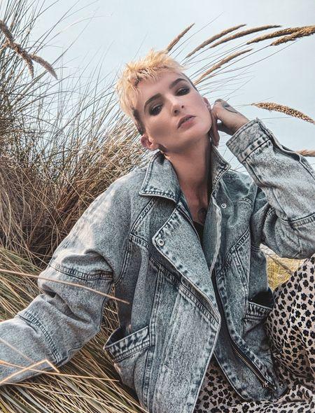 Summer vibes with my H&M denim jacket. #denim #ltkitunder100 #summertime #denimjacket