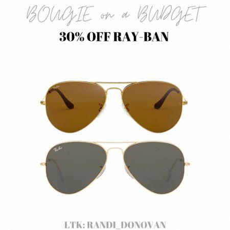30% off Ray-Ban sunglasses. Aviators.   http://liketk.it/3gz46 #liketkit @liketoknow.it #LTKsalealert #LTKtravel #LTKstyletip