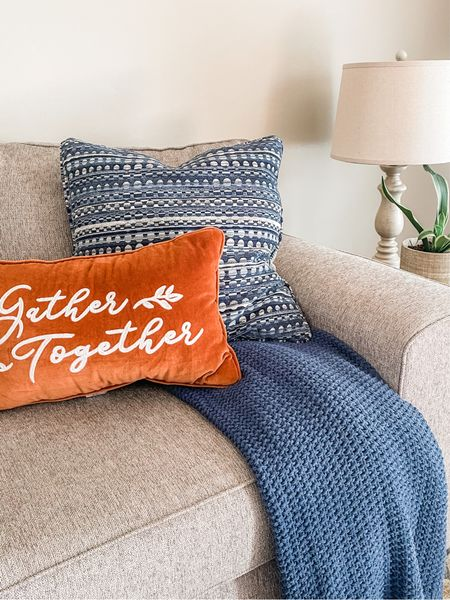Contrasting colors make this cozy corner pop with fall charm.   #LTKunder50 #LTKSeasonal #LTKHoliday