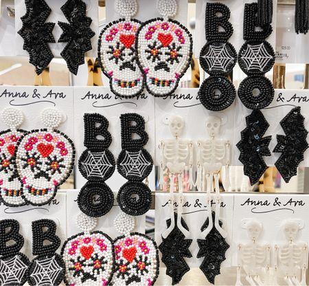 Skull earrings. Boo Halloween beaded earrings.   #LTKunder100 #LTKSeasonal #LTKunder50