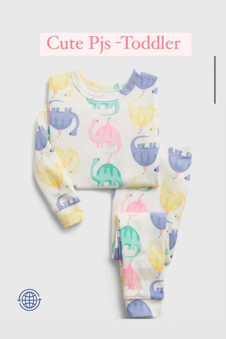Toddler girls, colorful pjs   #LTKkids #LTKSpringSale #LTKunder50