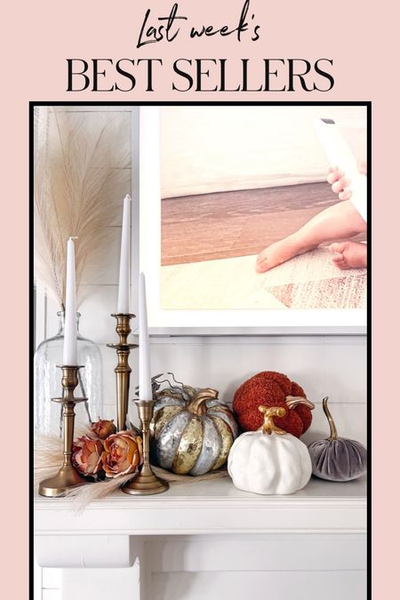 Fall decor mantel with some help from target! These Sherpa pumpkins and roses are included in my best sellers last week! The pumpkins come in 3 other colors! #falldecor #mantel #manteldecor #fallhomedecor #targetfinds #etsyfinds #velvetpumpkins #sherpapumkins #pumpkindecor  #LTKSeasonal #LTKHoliday #LTKhome