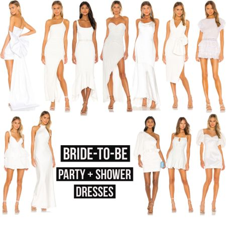 Bride-To-Be: Dresses for all occasions! Showers, engagement parties... check them out if you're on the hunt!  #bride #bridetobe #bridalshower #wedding #weddingshower #engagement #engagamentparty #engagamentring #weddingdress #bridal #goingtothechapel #revolve #revolveme #dresses #whitedress #wfh #workfromhome #ltkbride #StayHomeWithLTK #LTKwedding #LTKstyletip @liketoknow.it #liketkit http://liketk.it/2OMpR