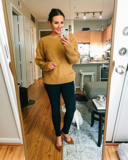 Casual winter outfit- tan brown knit sweater with dark wash skinny jeans and cognac brown suede heels  @liketoknow.it http://liketk.it/2G8QZ #liketkit #LTKunder100 #LTKsalealert #LTKunder50 #ltkfall #ltkshoecrush #ltkstyletip