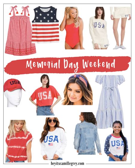 Memorial Day Weekend - Patriotic Looks Loving the red white and blue on these pieces. Dresses, jean jackets, bathing suits, loungewear and tops! Target, Pink Lily and Old Navy  http://liketk.it/3fJhd #liketkit @liketoknow.it #LTKunder50 #LTKshoecrush #LTKitbag
