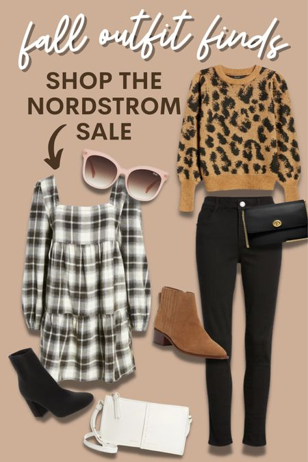 Nordstrom, anniversary sale, fall outfit, autumn, sweater, animal print, plaid, dress, long sleeve, skinny jeans, booties, bags, sunglasses, purse, Vince Camuto, boot, shoes, Quay, coach http://liketk.it/3jYEx @liketoknow.it #liketkit #LTKstyletip #LTKsalealert #LTKitbag Follow me on the LIKEtoKNOW.it shopping app to get the product details for this look and others