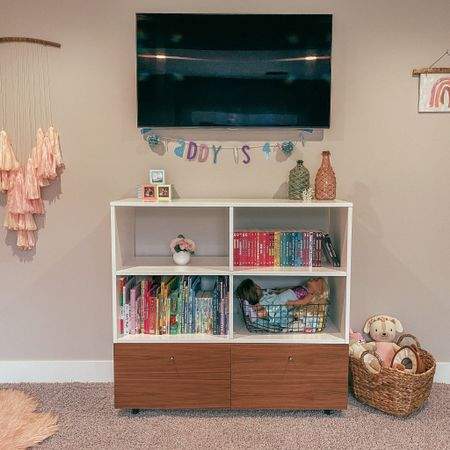 Addy's big girl bedroom reveal Washable faux fur rug Interiors Home decor  Bookcase and bookshelves  Books for kids  Organization storage for kids rooms   http://liketk.it/2NX3v #liketkit @liketoknow.it #StayHomeWithLTK #LTKkids #LTKhome @liketoknow.it.home @liketoknow.it.family