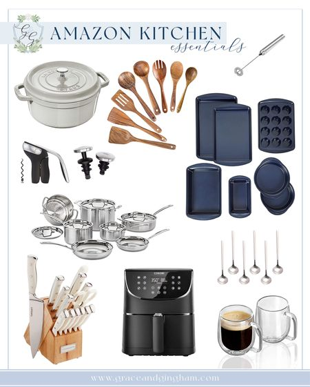 Amazon kitchen essentials to treat yourself or someone else with this holiday season! So many great choices with top brands like Cuisinart, Staub, Wilton, OXO, and other amazing boutique sellers! ✨  #StayHomeWithLTK #LTKgiftspo #LTKhome