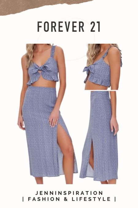 Forever 21 ✨LTK DAY SALE✨   Crop top Midi skirt  Two piece set   summer, summer sale, summer outfits, summer time, beach day, casual day, girls night out, date night, cute, trendy, aesthetic, soft girl, picnic, travel, spring time, easy to wear, crop top skirt set, forever 21 sale, ltkday http://liketk.it/3hzjs   #liketkit @liketoknow.it #LTKsalealert #LTKshoecrush #LTKstyletip Follow me on the LIKEtoKNOW.it shopping app to get the product details for this look and others