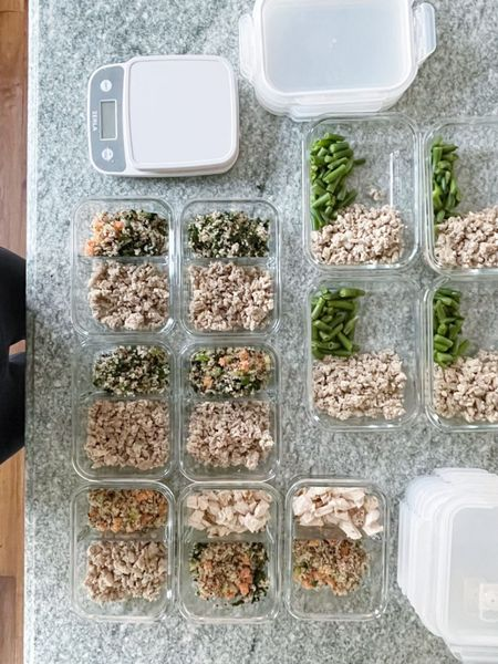 Food prep containers! These are glass, which I prefer and are better for the environment. AND they keep your fruits and veggies fresher / crisper. I chose a divided option as well. || #mealprep #foodprep #organization #foodpreporganization #storage #mealplan  #LTKhome