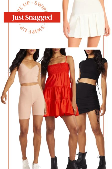 Just snagged from bb Dakota x Steve Madden! Bb Dakota dress two piece dress mini skirt little black dress athleisure fitness apparel white pleated tennis skirt little red dress flowy mini dress two piece set sports bra and biker shorts crop top and skirt set tight dress girls night out outfit date night outfit casual outfit gift for her #LTKfit #LTKstyletip #LTKunder50 http://liketk.it/3hOnN #liketkit @liketoknow.it