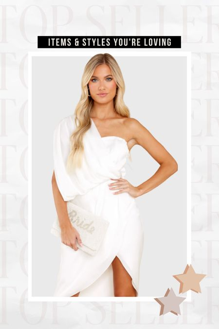 BEST SELLER — This one should white satin midi dress! Love so much for brides to wear on their bachelorette or pre-wedding festivities!  #LTKstyletip #LTKunder100 #LTKwedding