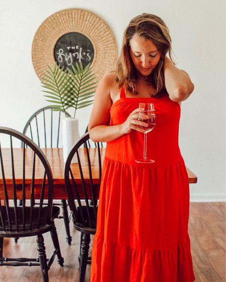 Never worn a red dress until today but I've gotta say, this one has me feeling like a million bucks ❤ ️ http://liketk.it/2CEpj #liketkit @liketoknow.it #LTKunder50 #LTKshoecrush #LTKsalealert #LTKwedding (and it's under $30!) wearing a medium!
