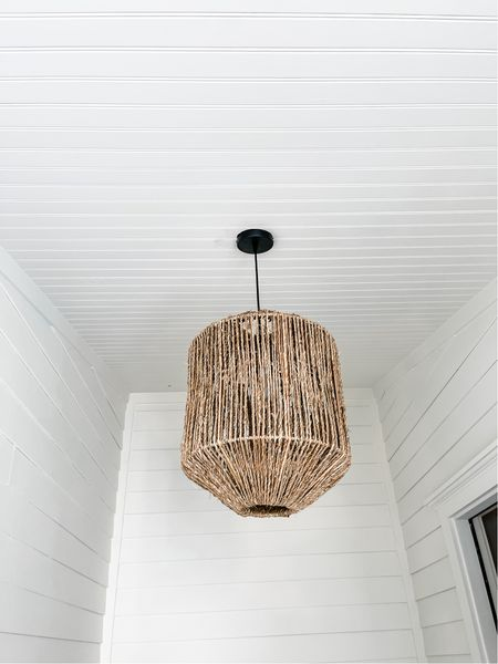 Here are some seagrass pendant shades similar to our new one!   #LTKhome #LTKunder100