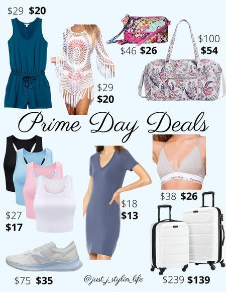 Amazon Prime Day deals - Fashion. Amazon finds. Blue romper, white crochet swim coverup, Vera Bradley bags, tank top set, casual summer dress, Calvin Klein bra, New Balance running shoes, luggage suitcase set. Found on Amazon, Amazon Prime, Amazon deals. http://liketk.it/3i5Mq @liketoknow.it #liketkit #LTKsalealert #LTKunder50 #LTKunder100 #LTKitbag #LTKfit #LTKtravel