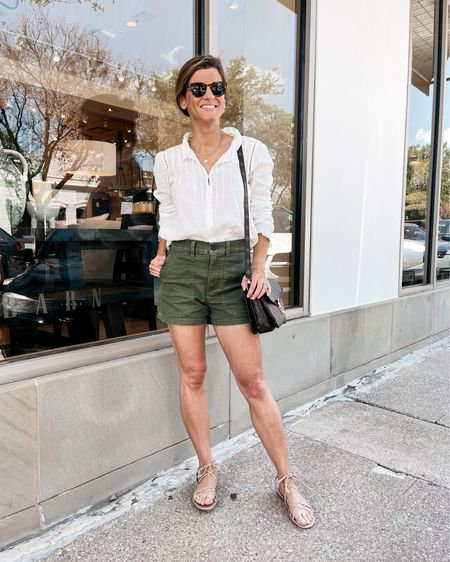 Cute and Casual! Wearing Madewell shorts (size 24 run large) and Faherty blouse (size xs) http://liketk.it/3hKQf #liketkit @liketoknow.it
