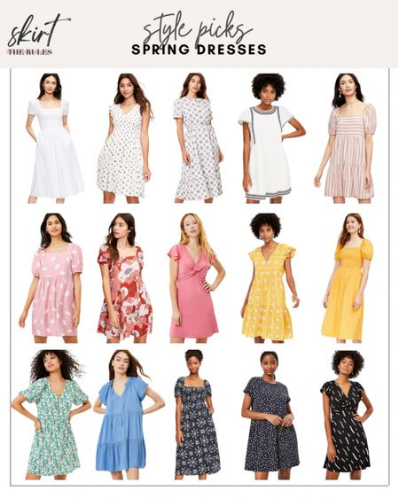 Spring dress, spring outfit, summer fashion, summer fashion, vacation outfit, graduation dress: white puff sleeve dress, white smocked dress, white floral dress, navy and white embroidered dress, pink striped dress with puff sleeves, pink puff sleeve dress, red floral dress, pink twist front dress, yellow sundress, yellow dress with puff sleeves, turquoise floral dress, chambray blue dress, navy floral puff sleeve dress, navy floral swing dress, black graphic print dress. @liketoknow.it http://liketk.it/3cYN0 #liketkit #LTKunder100 #LTKstyletip