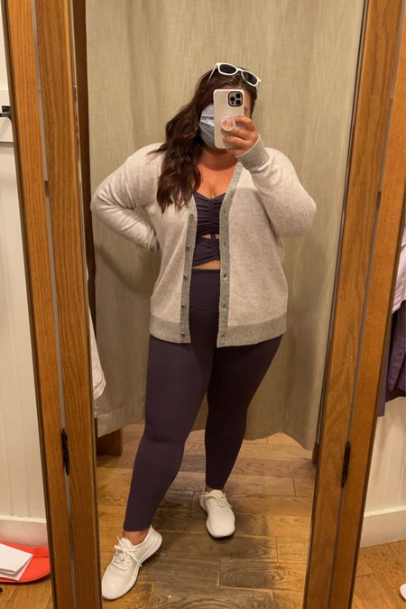One of my favorite sets in a new fall color! 💜 1x in all pieces!   #LTKstyletip #LTKfit #LTKcurves