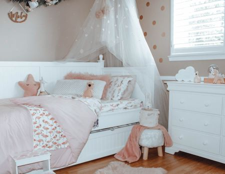 Girls Room. Girls Nirsery. Twin bed bedding. girls bed sheets and wall decor. For little girls room ✨ Love all of these room finds for your little lady xo #girlsroom #girlsroomdecor #babygirlnursery #pinkroomdecor    #LTKhome #LTKbaby #LTKkids