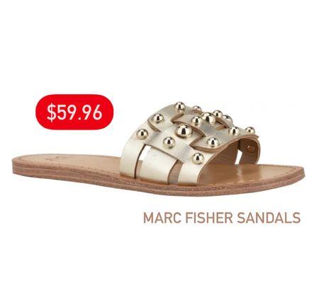 Marc Fisher sandals on sale for only $59.96!  #LTKunder100 #LTKsalealert #LTKSeasonal
