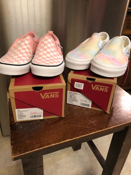 I bought my first pair of Vans sneakers in the #nsale and they're so amazingly comfortable. I definitely needed a canvas slip-on sneaker in my life. Mine are on the right (size 6, fit true to size) my daughter's Vans are on the left (from DSW, size 3, run small). She wears hers for skateboarding. Now we can be matching—but I'm definitely not getting on a skateboard.   #LTKunder100 #LTKunder50 #LTKsalealert