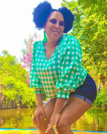 Green plaid, patterned top #targetstyle #target http://liketk.it/3hQj5 @liketoknow.it #LTKstyletip #LTKunder50 #liketkit