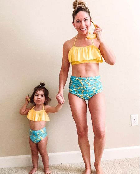 Matching family swimsuits          Matching Swimsuits, mommy and me outfit, #ltktravel #ltkstyletip #ltkkids #ltkseasonal summer fashion, high waisted bikini, two piece bathing suit , beach vacation outfit, amazon fashion, amazon finds  #LTKswim #LTKfamily #LTKunder50