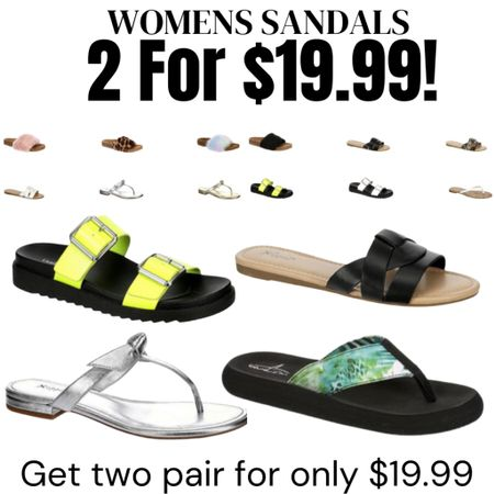 Women's sandals TWO PAIRS for only $19.99!  http://liketk.it/3gQCW #liketkit @liketoknow.it #LTKsalealert #LTKunder50 #LTKshoecrush