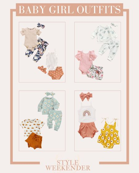 Affordable Baby Girl Outfits From Amazon 🌸  #amazonbaby #amazonbabygirl #babygirloutfits #babygirlclothes #amazonfinds #amazonfashion #affordablebabygirlclothes  #LTKbaby #LTKstyletip #LTKunder50