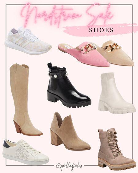 Nordstrom anniversary sale NSALE shoes and boots Tan knee high boots, pink chain mules, hiking boots, leopard sneakers, adidas sneakers, tan booties, combat boots  #LTKsalealert #LTKshoecrush #LTKunder100 #liketkit @liketoknow.it http://liketk.it/3jVr9