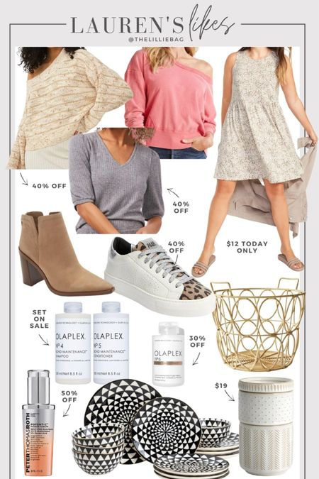 Style favorites and sale finds! P448 sneakers 40% off. Old Navy dress only $12 today only. Free People sweater 40% off. Boots. Fall style. Walmart home finds. Walmart finds.   #LTKsalealert #LTKunder100 #LTKunder50