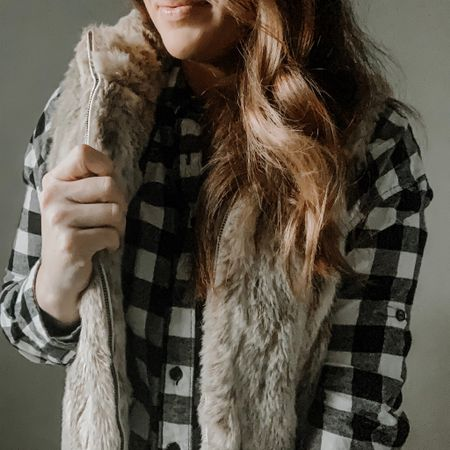 It's officially flannel & fur season and I'm not mad about it.  This one is a vintage find from a few years ago but I found some cute and affordable options for you🖤  Random question, are you a tunic shirt person? Do they remind you of a dress?     #flannels #fauxfur #affordablefashion #momstyle #lumberjack #momattire #momwardrobe #liketkit #LTKholidaystyle #LTKsalealert #LTKunder50 @liketoknow.it http://liketk.it/2GTXn