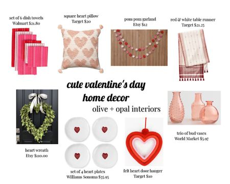 Valentine's Day, valentines decor, affordable holiday decor, target decor, kid friendly, hearts, pink and red   http://liketk.it/35r63 #liketkit @liketoknow.it