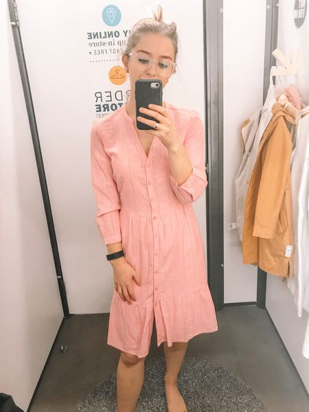 Love this cute Old Navy pink dress for Valentine's Day! Perfect for Easter and into spring as well! Fits true to size!  http://liketk.it/2zDA8 #liketkit @liketoknow.it #LTKunder100 #LTKunder50 #LTKstyletip #LTKsalealert