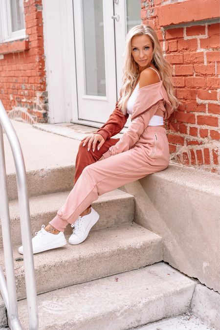 How did I ever wear sweats not in sets before?! @revolve has amazing new Fall pieces from work from home sweats to trendy sweater dresses. My new blog post with top Fall picks is live on my website linked in bio. Happy Fall shopping! #revolvefall #revolvearoundtheworld #revolveambassador #revolvegallery #revolveactive   #shop.ltk #sweatsets #workfromhomestyle #sassandclass