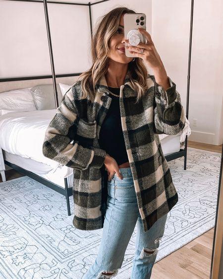 madewell shirt jacket size xs