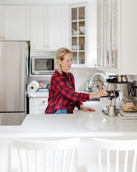 My morning coffee feels luxurious everyday because of my espresso machine & I feel cozy all day long with my flannel top and super soft jeans http://liketk.it/317Br #LTKhome #LTKsalealert #liketkit @liketoknow.it @liketoknow.it.home