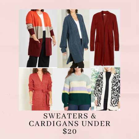 Under $20 sweaters and cardigans!! On sale and online only at target. Super cute, all different colors and sizes available. Styles are endless ❤️ http://liketk.it/330gF #liketkit @liketoknow.it #LTKsalealert #LTKunder50 #LTKgiftspo Shop my daily looks by following me on the LIKEtoKNOW.it shopping app