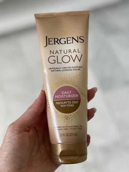 Best body self-tanner Target finds Jergen's natural glow self-tanner  Really moisturizing, gradual natural looking tan Self tanning lotion #ltkunder100   #LTKunder50 #LTKbeauty #LTKtravel